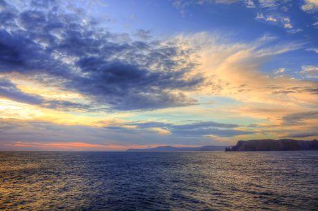 Sailing out of Hobart