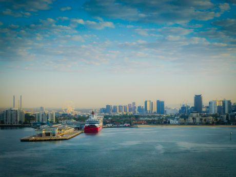 Sailing into Melbourne
